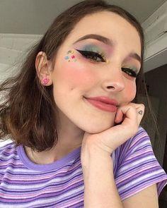 Fancy Makeup, Cool Makeup Looks, Creative Eye Makeup, Unique Makeup, Cute Makeup, Pretty Makeup, Makeup Art, Hair Makeup, Harajuku Makeup