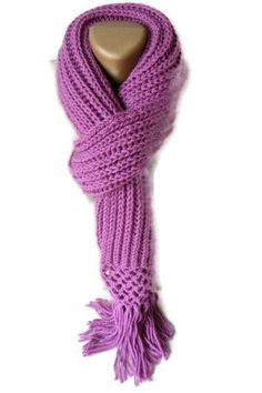 women knitted scarf knitting fashion for her purple woman by seno, $25.00