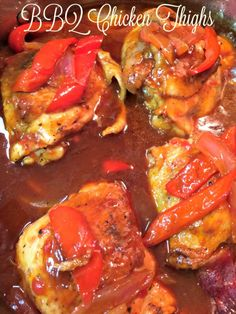 Skilet BBQ Chicken Thighs