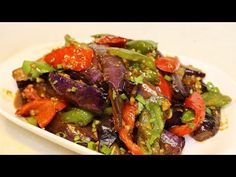 Chinese Style Eggplant RecipeHong shao qie zi, it is a very popular Chinese eggplant dish all over China. If you like eggplant, then this is a great recipe you must try. If you hate eggplant, I think you should still try- it's really delicious and y Chinese Eggplant Recipes, Eggplant Dishes, Chinese Recipes, Chinese Food, Veggie Recipes, Asian Recipes, Vegetarian Recipes, Ethnic Recipes, Keto Recipes