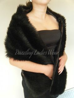 Hey, I found this really awesome Etsy listing at https://www.etsy.com/listing/208113179/black-faux-fur-shawl-wrap-stole-bolero