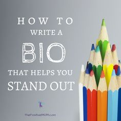 How to write a bio that helps you stand out as a mompreneur - Elayna Fernandez ~ The Positive MOM Writing A Biography, Writing Words, Personal Bio, Grammar And Punctuation, Just You And Me, English Writing Skills, Writing About Yourself, Words To Use, You Better Work