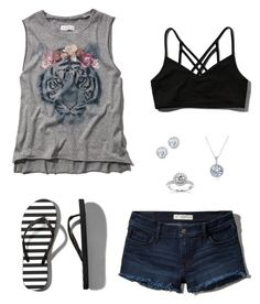 """""""Untitled #330"""" by carolinamcury ❤ liked on Polyvore featuring Abercrombie & Fitch, Kobelli, Annello, women's clothing, women's fashion, women, female, woman, misses and juniors"""