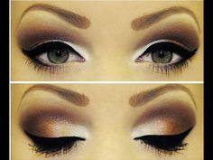 Dramatic eyes in brown