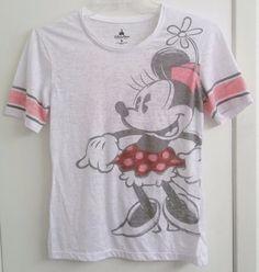 Minnie Mouse Junior Ladies Shirt M Medium From Walt Disney World Burn Out Fabric
