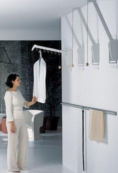 Wardrobe Rail, Wardrobe Design, Smart Furniture, Cabinet Furniture, Almirah Designs, Bed Design, House Design, Spa Interior Design, Bedroom Cupboards