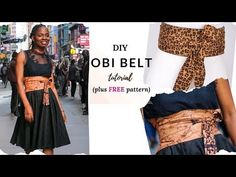 Diy Clothes Patterns, Sewing Patterns Free, Free Sewing, Diy Belt For Dresses, Diy Fashion, Autumn Fashion, Diy Belts, Free Pattern Download, Fashion Background