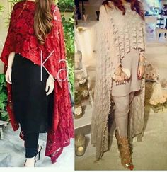 Black and red look always nice Pakistani Couture, Pakistani Outfits, Indian Outfits, Pakistani Mehndi, Indian Attire, Indian Wear, Moda Indiana, Ladies Salwar Kameez, Style Africain