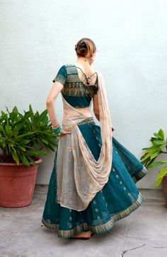 This looks very Indian inspired, but it would be beautiful for dancing to the right type of music.