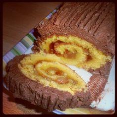 Tronchetto di Natale pere e cioccolato  #glutenfree