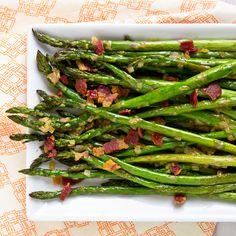 Asparagus with Bacon Vinaigrette