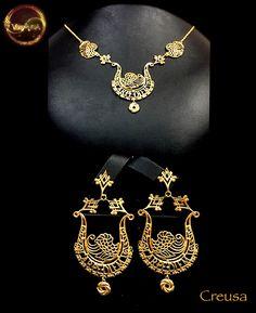 """""""Creusa"""", Collier e orecchini in oro 18Kt. Handmade, Limited Edition."""