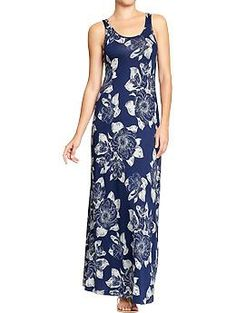 Womens Patterned Maxi Tank Dresses - Old Navy. Might be a good dress for the party...