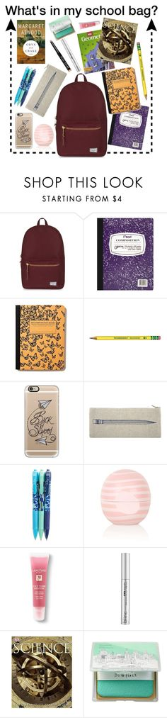 """""""What's in my school bag?"""" by victoriakfc on Polyvore featuring Herschel Supply Co., Mead, Casetify, Thomaspaul, Vera Bradley, Topshop, Lancôme, Blinc, Dot & Bo and too cool for school"""