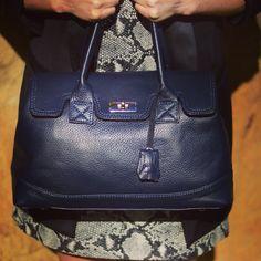 Kris Top Handle Leather Bag in calfskin                              @ www.bidinis.com