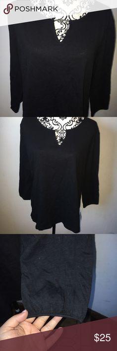 Karen Scott Black Top Shirt Size XL Karen Scott Black Top Shirt Size XL, brand new with tags. Retail $37 Karen Scott Tops