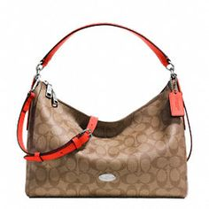 Coach East west Celeste Convertible Signature In Hobo Bag. Hobo bags are  hot this season! The Coach East west Celeste Convertible Signature In Hobo  Bag is a ... dc5f627e224e3