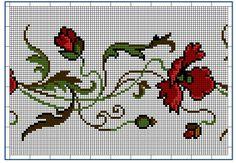 Moderne Stickerei-Vorlagen, Secession, Jugend-Styl, page 3. c. 1915. Art Nouveau cross-stitch, flowers.