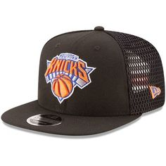 2a534dcffc9 Men s New York Knicks New Era Black Mesh Fresh Snapback 9FIFTY Adjustable  Hat