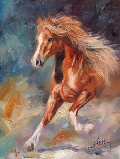 Chestnut Beauty Painting by David Stribbling