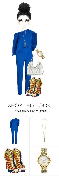 """""""Untitled #7312"""" by mrsmayweather ❤ liked on Polyvore featuring Roland Mouret, Roberto Cavalli, Christian Louboutin, Versus and Rebecca Minkoff"""