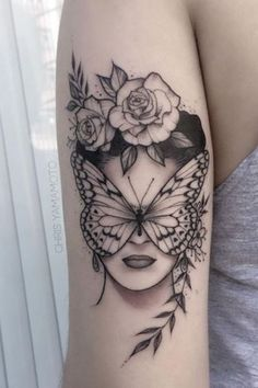 20 Butterfly Female Tattoos to Get Inspired by Your Next Tattoo tatoo feminina - tattoo feminina del Music Tattoos, Body Art Tattoos, Hand Tattoos, Sleeve Tattoos, Tatoos, Female Tattoos, Phenix Tattoo, Butterfly Hand Tattoo, Tattoo Designs