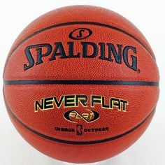 Spalding Never Flat Official Size Basketball by Spalding. $33.74. Amazon.com                Spalding's Never Flat basketball is the first-ever ball with proprietary pressure retention technologies guaranteed to hold air up to 10 times longer than traditional basketballs. Traditional basketballs lose air on a consistent basis, resulting in a ball that falls out of official game ball specification within a few months. Spalding's Never Flat ball utilizes exclusive...