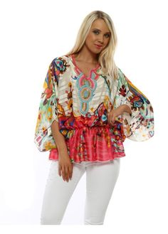 Stylish Port Boutique tops available online now at Designer Desirables. More summer tops delivered free with free returns Kaftan Tops, Kaftan Style, Beaded Sandals, Going Out Tops, Boutique Tops, Summer Tops, Contrast, Kimono Top, Glamour