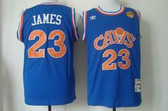 cleveland cavaliers 23 lebron james blue cavs mitchell and ness jersey 2015 nba finals patch