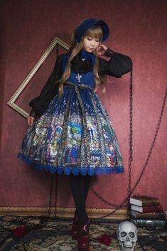 Surface Spell -The Rosary- Gothic Lolita Corset JSK