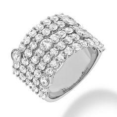 Angara Brown and White Diamond Cocktail Ring with Overlapping Swirls hoE9jJca