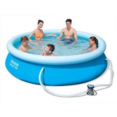 Pool / Fast Set Quick Up Pool Bestway Set mit Filterpumpe Bestway InflatablesBestway Infla Best Above Ground Pool, Above Ground Swimming Pools, In Ground Pools, Diy Swimming Pool, Garden Pool, Lawn And Garden, Quick Up Pool, Outdoors, Mockup