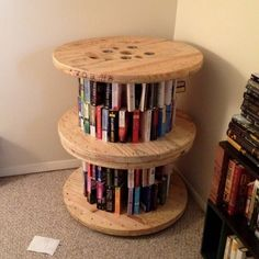 o for a man who was a bit handy-er! It spins on a lazy susan type deal. Wire Spool, Wooden Spools, Palette Deco, Spool Tables, Diy Wood Projects, Wooden Diy, Sofa Design, Cool Furniture, Home Decor