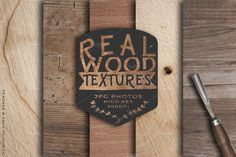 Real Wood Textures & Backgrounds by Feather & Sage Design on @creativemarket
