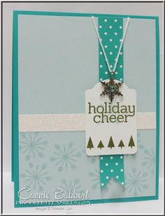 It's Day 2 of Create with Connie and Mary's PREVIEW WEEK to kick off the start of the Holiday Collection next week!  I used Cheerful Tags, Note Tag Punch, All is Calm Snowflake Embellishment.  Connie Babbert, www.inkspiredtreasures.com