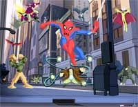 Spectacular Spiderman wall mural from Resene ColorShops. Childrens Wall Murals, Kids Wall Murals, Murals For Kids, Spider Man Animated Series, Boy Room, Kids Room, Spiderman, Wall Murals Bedroom, Spectacular Spider Man