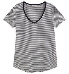T-shirt damski niebieskie paski - Promod