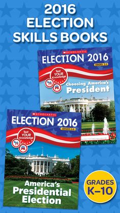 Printed right after the primaries, our 32-page skills books are the most up-to-date way to capture the excitement of the election, build civic knowledge, and teach the democratic process! They're available in four different age-appropriate editions for grades K–10.