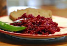 Hagymával sült cékla Salad Recipes, Cabbage, Mexican, Beef, Vegan, Vegetables, Ethnic Recipes, Food, Modern