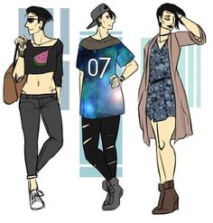 emziebeeart:  Drew some more Guy and found out hes non binary!...