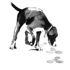 Smells like summer! #teemujärvi #teemujarvi #teemujärviillustrations #teemujarviillustrations #natureart #illustration #finnishhound #suomenajokoira #forestisastateofmind Illustration, Dogs, Animals, Instagram, Animales, Animaux, Pet Dogs, Doggies, Animal