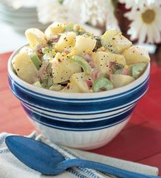 this potato salad (not!)  is so good and so low, and a large serving size of 1 and a half cups! and low carb and sugar free low fat, gluten free dairy free, you'll have to do a double check to make sure its not your grandma's oh so dangerous potato salad, but its real diakon!