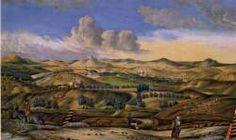 Die Gouache von R. Regensdorfer aus dem Jahre 1844 zeigt eine Ansicht von Poysbrunn und Falkenstein mit einem Stück der Straße im Vordergrund. Kaiser Karl, Gouache, Painting, Exploring, History, Painting Art, Paintings, Drawings
