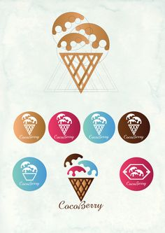 waffles dibujo Ice cream brand on Behance Ice cream brand on Behance Ice Cream Logo, Waffle Ice Cream, Ice Cream Brands, Bakery Logo Design, Branding Design, Behance Logo, Dessert Logo, Ice Cream Museum, Share Logo
