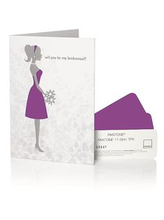 PANTONE WEDDING%u2122 Will You Be My Bridesmaid Card http://www.dessy.com/accessories/pantone-wedding-will-you-be-my-bridesmaid-card/#.VTgBniFVhBc
