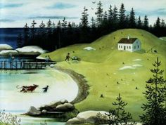 From Island Boy by Barbara Cooney Happy Birthday Barbara, Barbara Cooney, Maine Islands, Boy Pictures, World Of Books, House Landscape, Naive Art, Art Google, Countryside