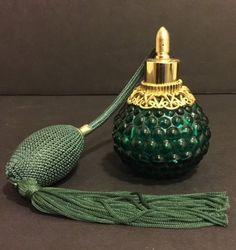 Vintage Glass Act Atomizer Perfume Bottle