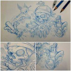 "Graffiti Blackbook work by ""OZER"":"