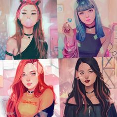 BLACKPINK IN YA AREA Lifestyles, lifestyles and quality of life The interdependencies and networks created by the interior integrity of … Fanart Manga, Kpop Fanart, Kpop Drawings, Cute Drawings, Fan Art, Character Art, Character Design, Blackpink Memes, Black Pink Kpop