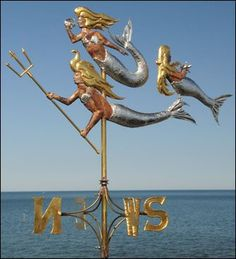Mermaids weather vane